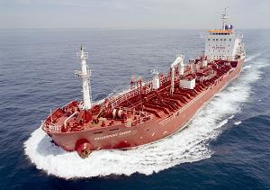 Modern Chemical tanker hellespont credo underway